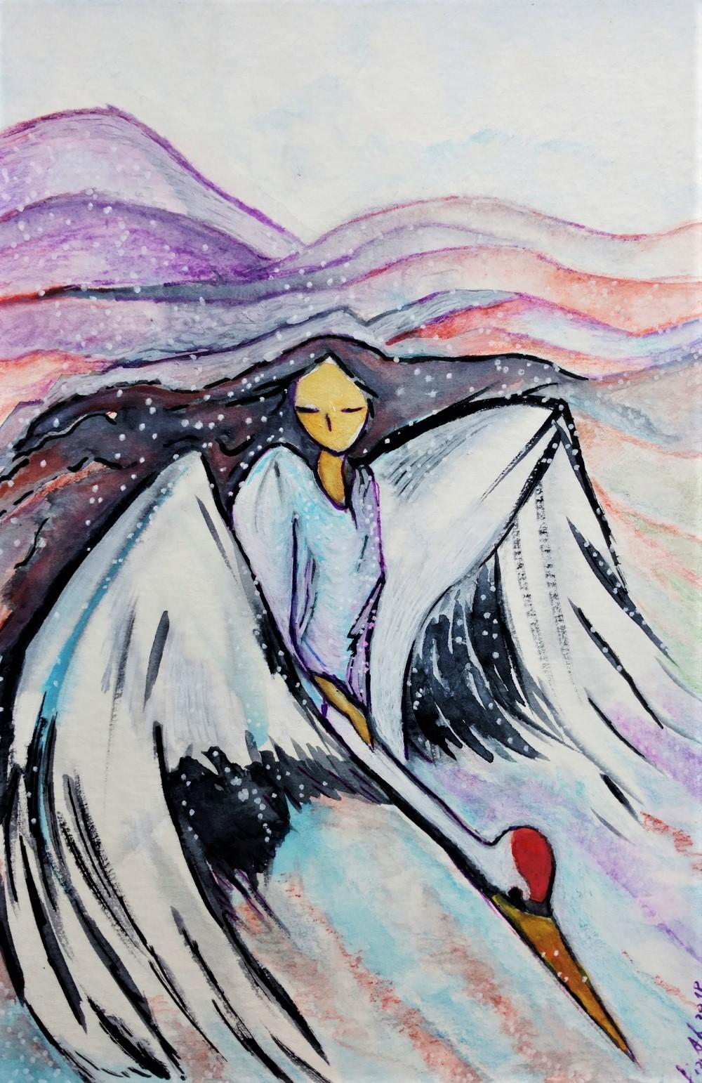 Gioia Albano - Snow woman (Femme de la neige)