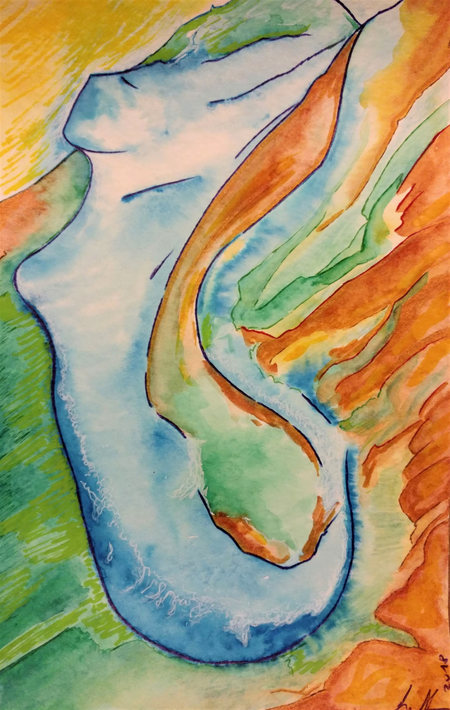 Gioia Albano - River woman (Femme rivière)