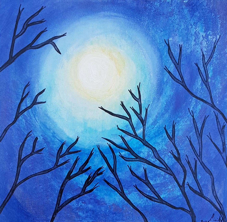 Gioia Albano - Trees in the moon (Arbres dans la lune)