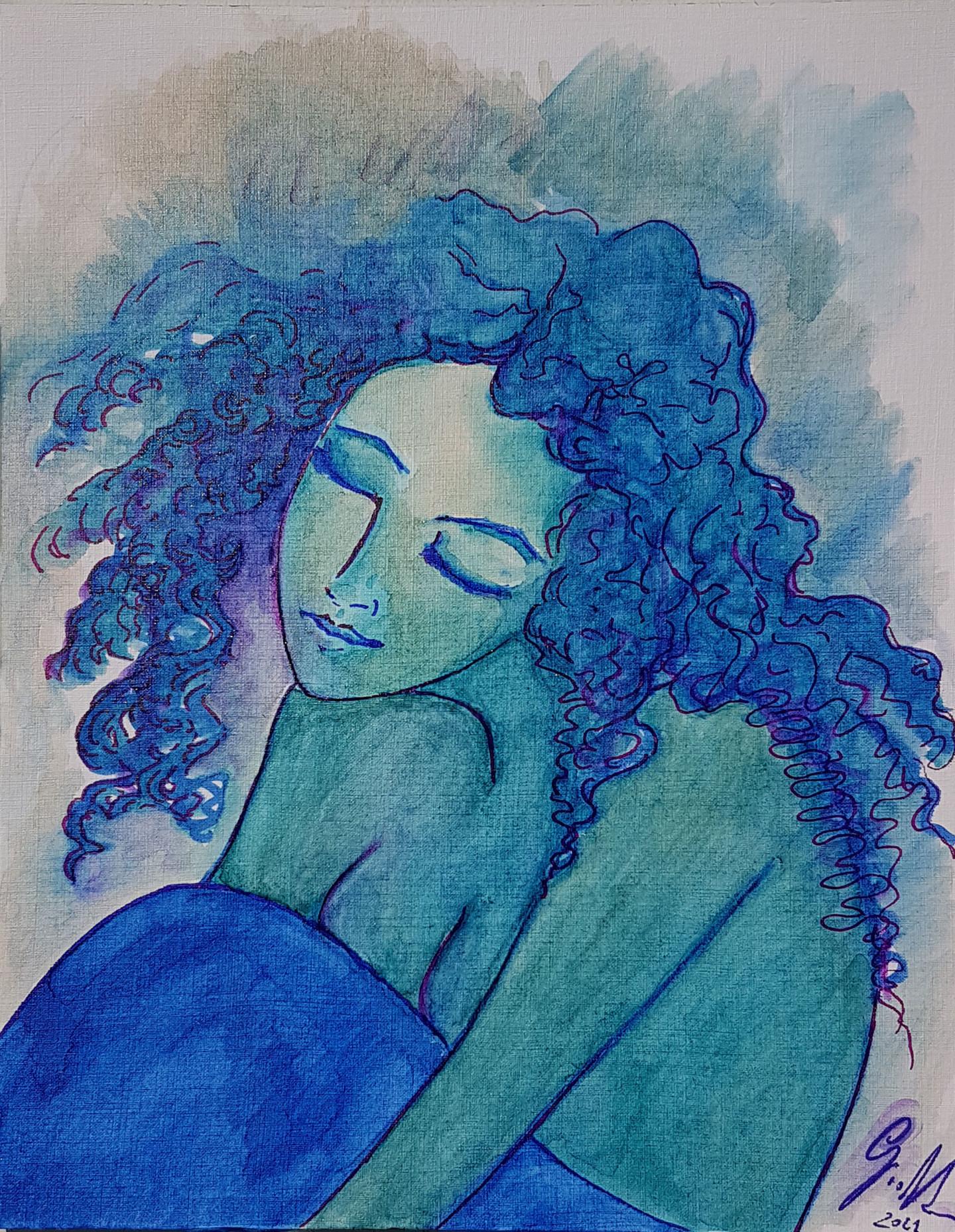 Gioia Albano - The dreaming girl (fille qui rêve)
